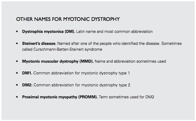 What Is Dm Myotonic Dystrophy Foundation