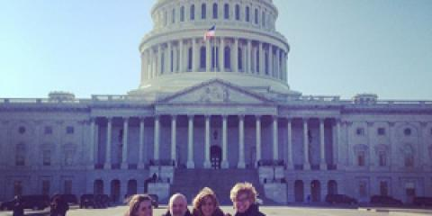 Aly,Woody and Molly bring DM Community Voice to Capitol Hill